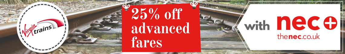 25% off advanced fares with Virgin Trains