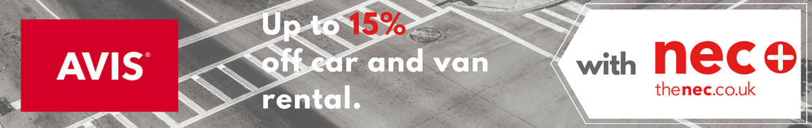 Up to 15% off car and van rental with Avis